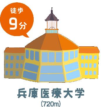 兵庫医療大学(徒歩9分)