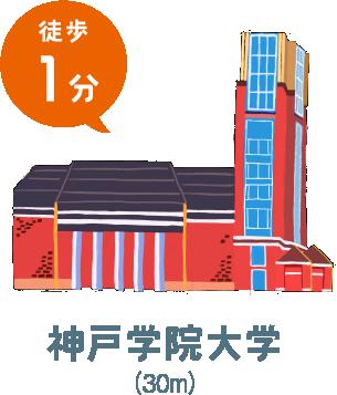 神戸学院大学(徒歩1分)