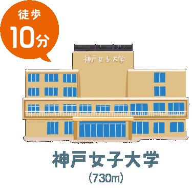 神戸女子大学(徒歩10分)