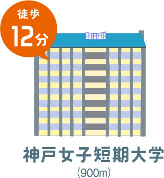 神戸女子短期大学(徒歩12分)